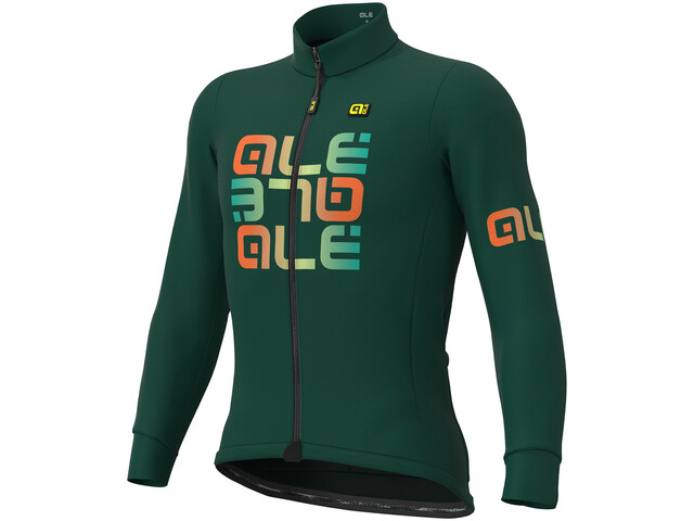 Alé Cycling Solid Mirror Winter Trikot Herren green